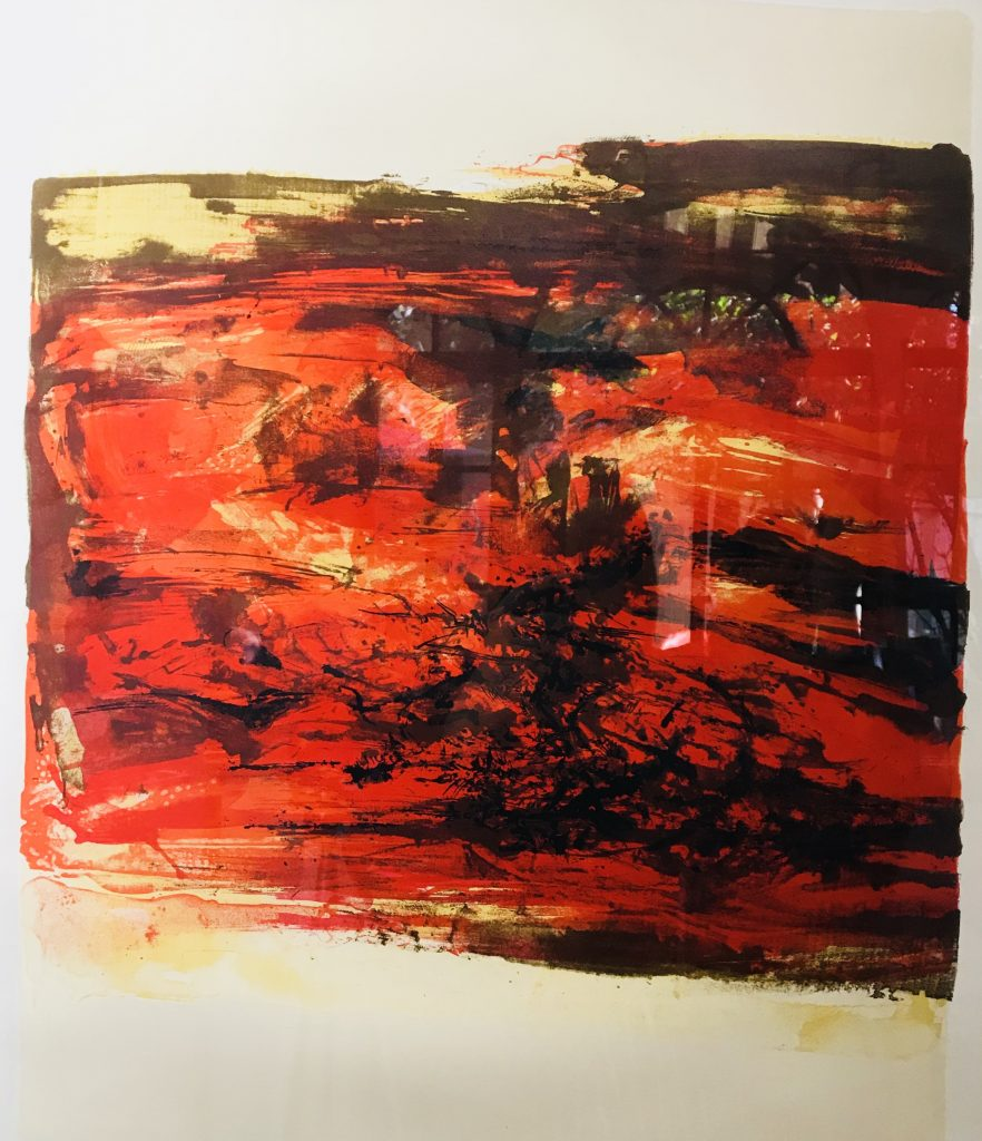无题Untitled | 65x49.6cm | 石版画Lithograph7:95 | 1967 | 赵无极 Zao Wou Ki (b.1921)