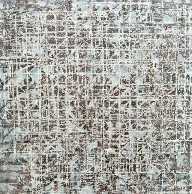 中国式山水-陌上NO.3丨布面油画丨150×150CM丨2016年